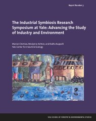 The Industrial Symbiosis Research Symposium at ... - Yale University