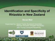 Specificity of Symbiosis in New Zealand Rhizobia - NZ Rhizobia