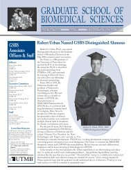 Summer2004 - The Graduate School of Biomedical Sciences ...