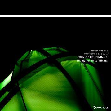RANDO TECHNIQUE - Quechua Press