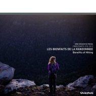 LES BIENFAITS DE LA RANDONNEE - Quechua Press