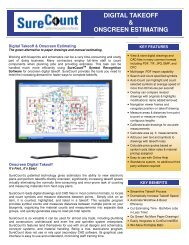 digital takeoff & onscreen estimating - ConEst Software Systems
