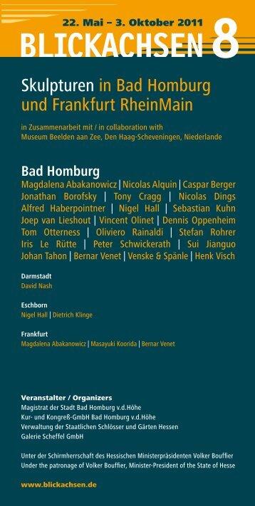 Skulpturen in Bad Homburg und Frankfurt RheinMain - Blickachsen