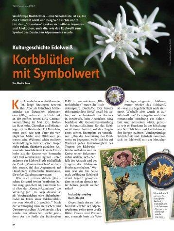 Korbblütler mit Symbolwert - Deutscher Alpenverein