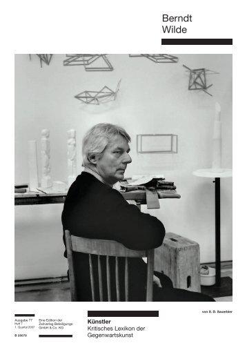 Berndt Wilde - Weltkunst