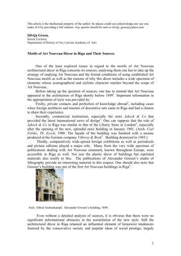 Document PDF - Art Nouveau Network