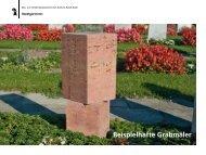 Beispielhafte Grabmäler - Stadtgärtnerei - Basel-Stadt