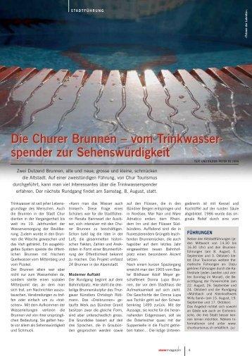 vom Trinkwasser- spender zur Sehenswürdigkeit ... - Churer Magazin