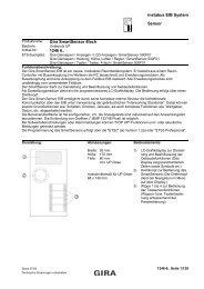instabus EIB System Sensor Gira SmartSensor 4fach 1246 6..