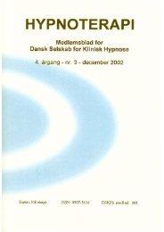 ved psykolog Annalise Rust - Dansk Selskab for Klinisk Hypnose