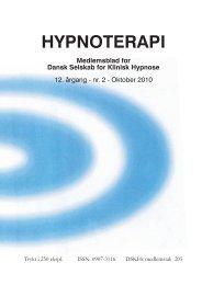 Oktober 2010 - Dansk Selskab for Klinisk Hypnose