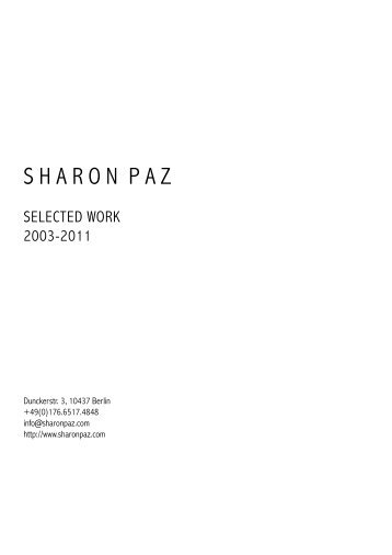portfolio pdf [483.6 kb] - Sharon Paz