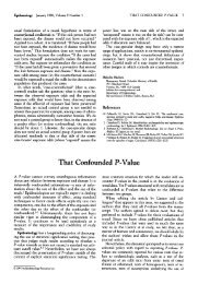 That Confounded P-Value That Confounded P-Value