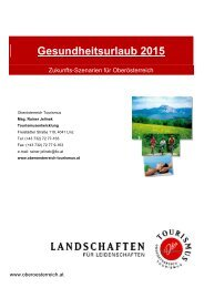 Gesundheitsurlaub 2015 - Oberösterreich Tourismus