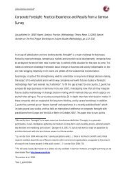 Corporate Foresight: Practical Experience and Results ... - Z_punkt