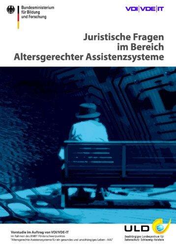 Juristische Fragen im Bereich altersgerechter Assistenzsysteme