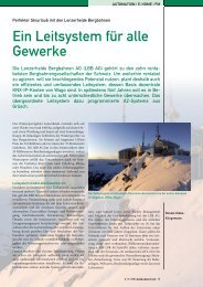 Bericht Seilbahnen Schweiz - AZ systems