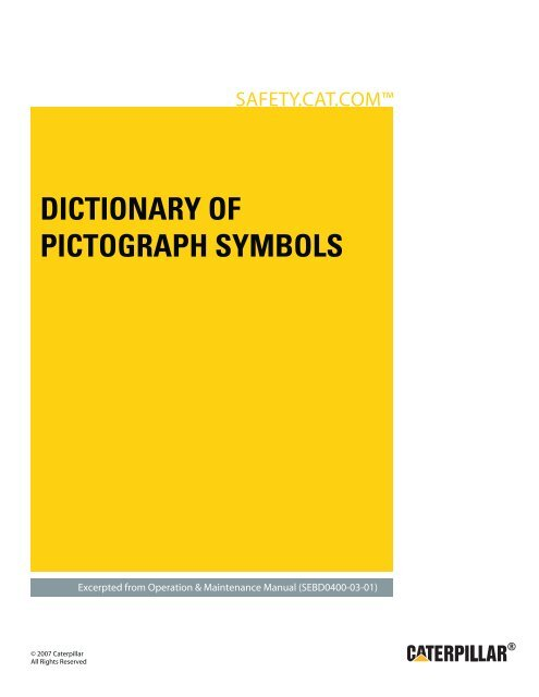 DICTIONARY OF PICTOGRAPH SYMBOLS - Caterpillar Safety