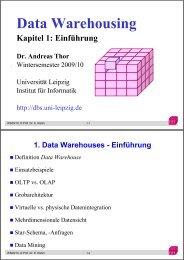 Data Warehouses - Abteilung Datenbanken Leipzig - Universität ...