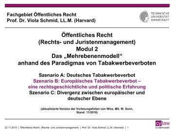 Europäisches Tabakwerbeverbot - TU Darmstadt