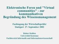 Elektronische Foren und