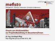 Einsatz von Multimodellen Mefisto-Szenario: Angebotsbearbeitung