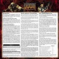 Doom: Das Brettspiel - Szenarios - deutsch