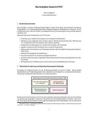 Das komplexe Szenario FSYS - Psychologie - Universität Mannheim