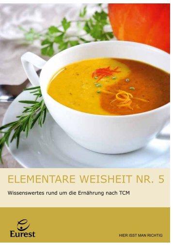 Infofolder 5 Elemente Ernährung - Eurest