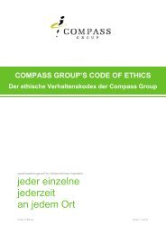 Compass Croup Code of Ethics - Eurest