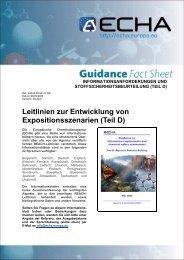 Leitlinien zur Entwicklung von ... - ECHA - Europa