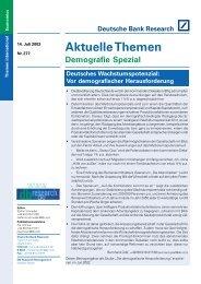 Deutsches Wachstumspotenzial: Vor demografischer ... - Demotrans