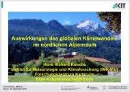 Auswirkungen des globalen Klimawandels im nördlichen Alpenraum
