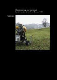 Klimaänderung und Tourismus Szenarienanalyse ... - Berggebiete.ch