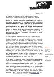 Pressemitteilung Gewinner und Preisverleihung 8. Leipziger ...