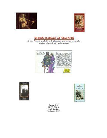 Manifestations of Macbeth   Education Library. Macbeth Spark Notes