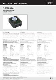 InstallatIon - Wibre Elektrogeräte Edmund Breuninger GmbH & Co. KG