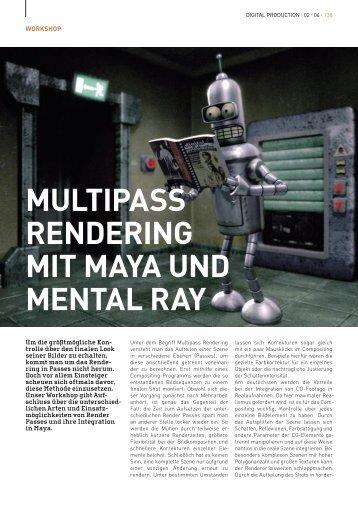 multipass rendering mit maya und mental ray - Manuel Macha