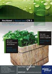 Hochbeet | Raised bed CTR 3 - Europlast