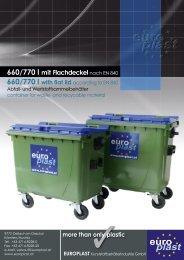 660/770 l mit Flachdeckel nach EN 840 - Europlast