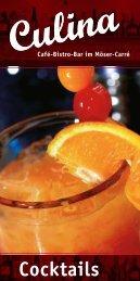 Cocktails - Culina Café-Bistro-Bar
