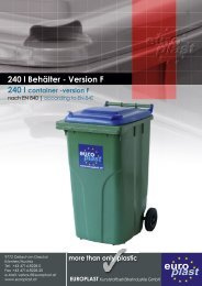 240 l container - Europlast