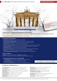 Deutscher getränkekongress 2012 - The Conference Group GmbH