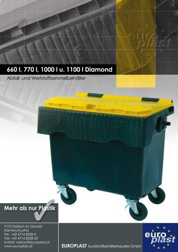 660 l, 770 l, 1000 l u. 1100 l Diamond - Europlast