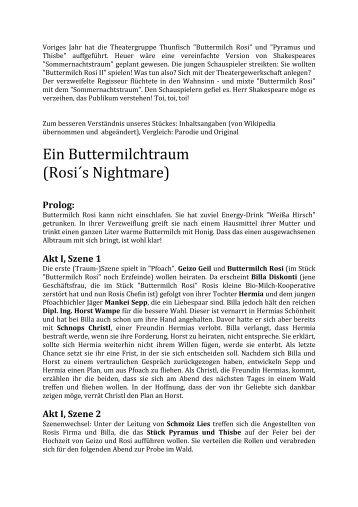 Ein Buttermilchtraum (Rosi´s Nightmare) - HS Mariapfarr