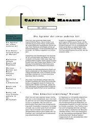 Capital M Magazin - Capital M Artists