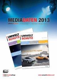 Mediadaten 2013 zum Download - Umweltschutz