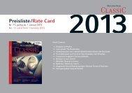 2013 Preisliste /Rate Card - WDV Gesellschaft für Medien ...