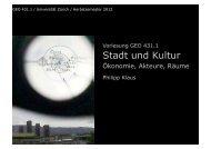 Räume - INURA Zürich Institut