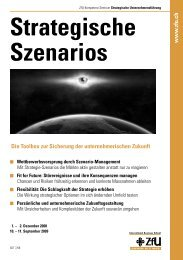 Strategische Szenarios - ZfU - International Business School